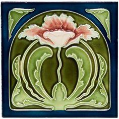 Art Nouveau Tile. Circa 1900.