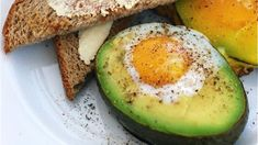 Breakfast item of the day: Egg baked in an avocado!