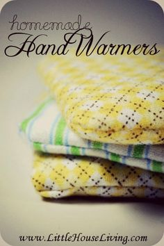 Homemade Hand Warmers. A super quick and simple sewing project that anyone can do! Perfect for those cold winter days and reusable.