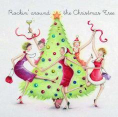 card designs, berni parker, parker ilustraçõ, christma tree, christmas trees, festiv card