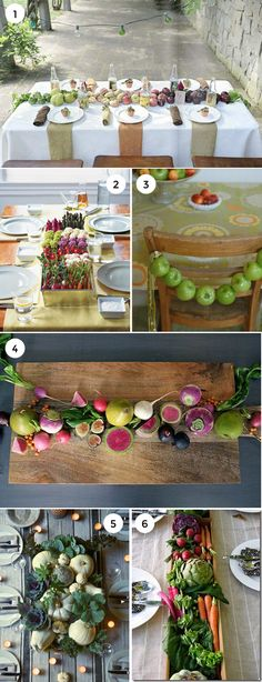 Using fruits + vegetables as centerpieces