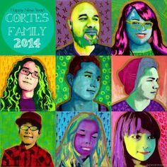 Pearmama: Create your own Pop Art Family Portraits