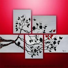 paint. canvas. leaves.