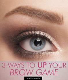 3 Ways to Up Your Brow Game - For years eyebrows have been playing a supporting role on the beauty stage. And they've done a stellar job at making the eyes — the long-established stars of the show — shine. But now it's time for brows to step into the spotlight. Here are three easy ways to take your eyebrows from best supporting to leading lady.