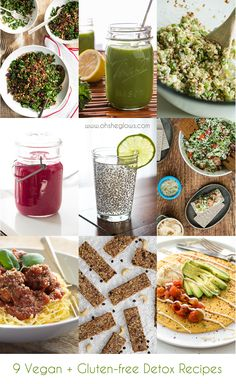 9 Delicious Vegan, Gluten-free, and mostly Grain-free Detox Recipes! Start off 2014 on the right foot with these tasty recipes from www.ohsheglows.com