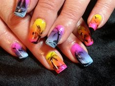 Tropical Gels by thepaintednail from Nail Art Gallery