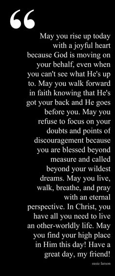 Start a Day Blessing