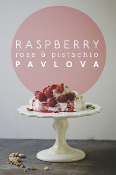 Raspberry rose pistachio