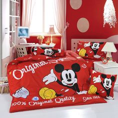 Micky Mouse Red Disney Bedding Sets