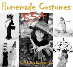AMAZING!  That is all I can say!  This collection has more than 55 awesome homemade Halloween costume ideas.  Time to start working on those costumes!!     Sun Scholars: Homemade Halloween Costume Inspirations