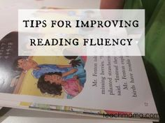 tips for improving reading fluency #literacy #weteach