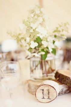 centerpiece + table numbers