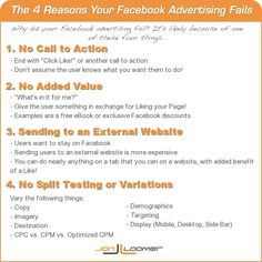 4 Reasons Your Facebook Advertising Fails