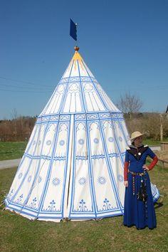 Painted umbrella tent