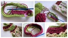crocheted towel topper... Love it!