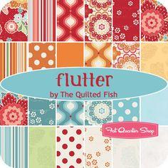 Flutter Fat Quarter Bundle The Quilted Fish for Riley Blake Designs - Fat Quarter Shop