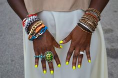 Yellow nails + wrist-party