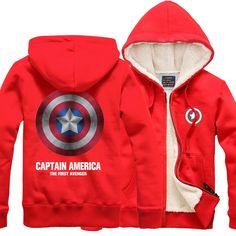Captain America THE FIRST AVENGER velvet zip-up hoodie