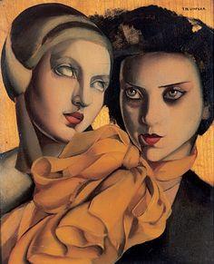 Tamara De Lempicka | Polish-born American Art Déco painter - The Young Ladies - 1927