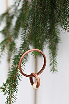 DIY Leather tree ornament