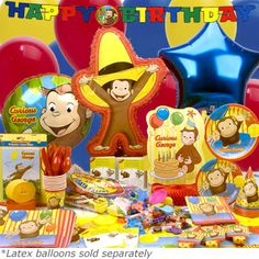 curious george birthday party ideas   Curious George Party Ideas and Supplies