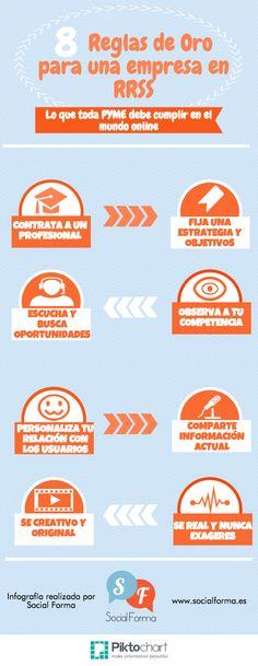 #Infografia 8 Reglas de Oro para una Empresa en #RedesSociales #TAVnews