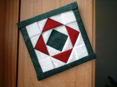 flat folded square ornament
