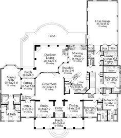 outdoor living, dream homes, hous plan, floor plans, master suite, floorplan, sitting areas, dream houses, house plans