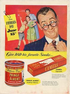 Vintage Father's Day Ads Tell a Story About Dads (click thru for more)