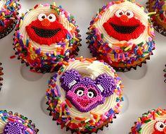 Elmo and Abby cupcakes