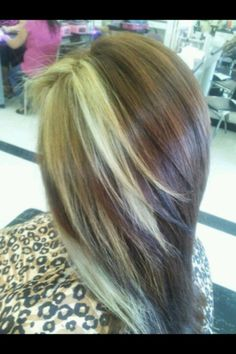 Light brown with blonde in the sides