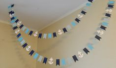 Paper Garland 10ft Garland /Anchor Theme / by anyoccasionbanners, $12.50