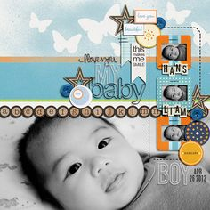 My Baby Boy Scrapbook layout idea