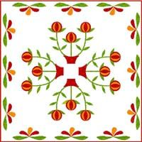 pomegranate quilt designed by Judy Breneman