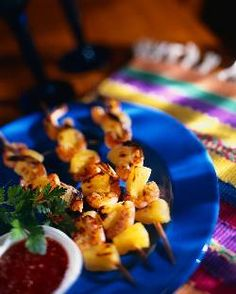 Shrimp Kebobs with seasonings are a no carb meal that tastes amazing!