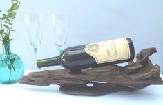 Reclaimed Wood Wine Rack Driftwood Sculpture by DivineDriftwood, $58.90