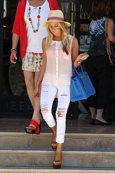 Ashley Tisdale flaunts her blue Hermes Birkin | Keep the Glamour | BeStayBeautiful