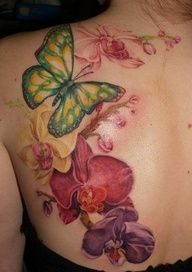 Orchid tattoo - for hip