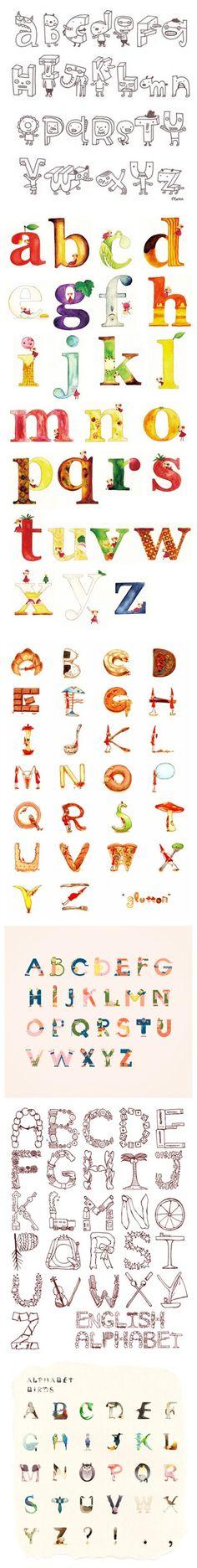 Lettering, Artist Study Resources for Art Students, CAPI ::: Create Art Portfolio Ideas at milliande.com , Inspiration for Art School Portfolio Work, Letters, Alphabet, Art Journal, Lettering