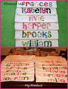 Personalized pillowcases for slumber party favors.