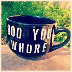 Boo you whore coffee mug by mugology on Etsy, $16.00 idea, gift, buy, funni, gotta, mean girls, boo you whore, girl refer, coffee wednesday
