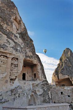 Limestone caves in Cappadocia, Anatolia - Turkey