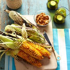 A spicy barbecue twist on classic grilled corn from Bobby Flay!  #vegetables #myplate