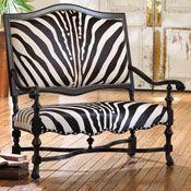 Zebra Double Settee