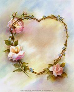 (not SW) vintage heart, pink roses, god, paper, heart art, jesus loves, pencil drawings, friend, heart wreath