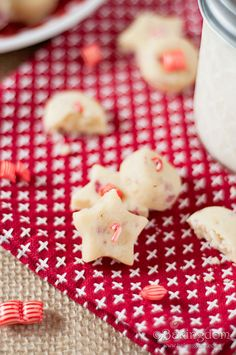Baby Candy Cane Shortbread Bites