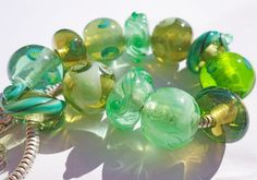 Love Limes bracelet bead collection and 75 inch by BuzzwordBeads, £85.00