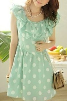 polka dots and ruffles and mint, OH MY! want!