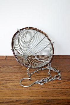 metal hanging fruit basket / vintage by TheGenevaApple on Etsy, $24.00