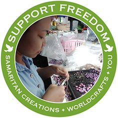 @WorldCrafts Support Freedom {Samaritan Creations ~ Thailand} Exists to rescue, restore, & empower women by grace & love of God. By offering women an alternative income to prostitution, they both rescue them from the trap of selling their bodies & empower them to alter the course of their lives. Via entrepreneurial training & funding, they empower women to return to their homes to plant churches, alter local economy, & forewarn people of the trap of prostitution. #fairtrade #supportfreedom